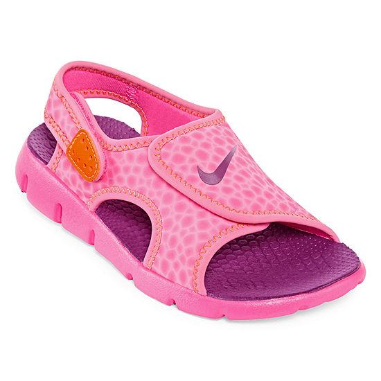 Nike® Sunray Adjustable Girls Sandals - Little Kids