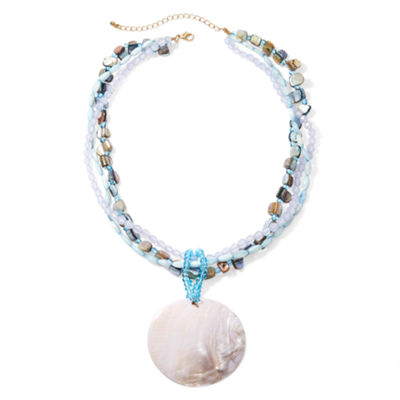 Mixit™ Blue Gold-Tone Shell Pendant Necklace