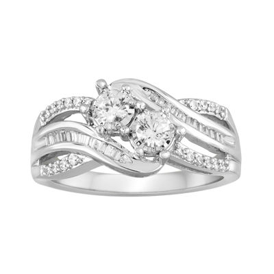 Two Forever™ 1/2 CT. T.W. Diamond 10K White Gold Engagement Ring