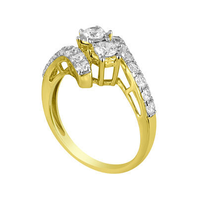 Two Forever™ 1 CT. T.W. Diamond 10K Yellow Gold Engagement Ring