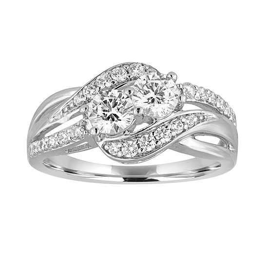 Two Forever™ 1 C.T. TW. Diamond 10K White Gold Ring