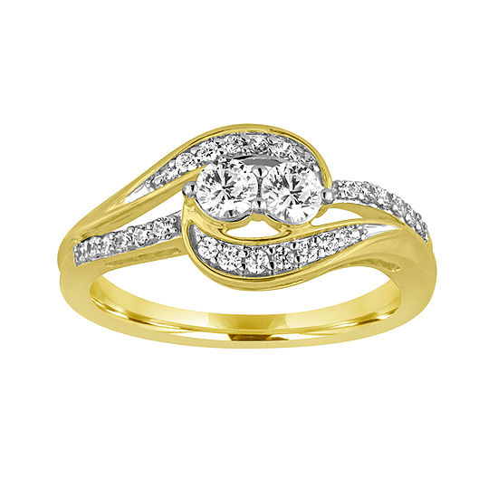 Two Forever Ct Tw Diamond 10k Yellow Gold Ring