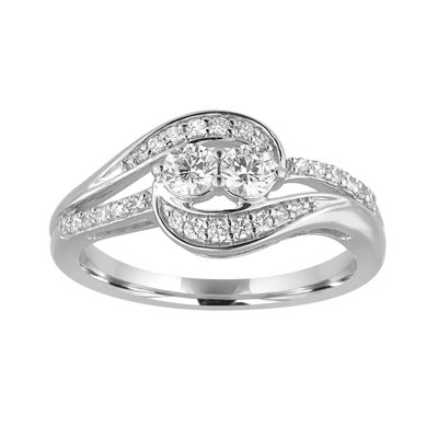 Two Forever™ 1/2 CT. T.W. Diamond 10K White Gold Ring
