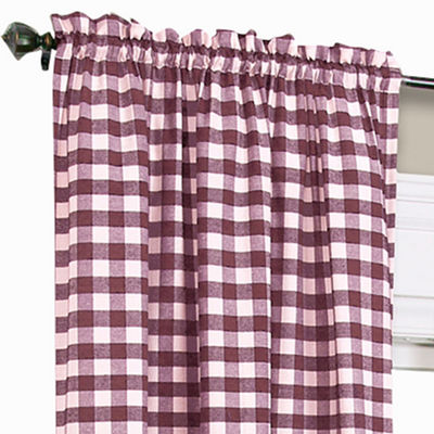 Buffalo Check Rod-Pocket Curtain Panel