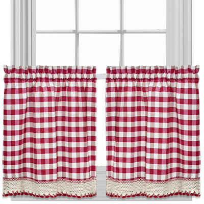 Buffalo Check Rod-Pocket Window Tiers