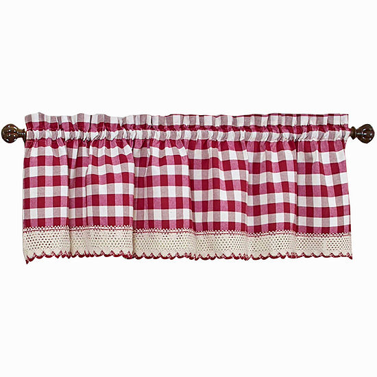 Buffalo Check Rod-Pocket Tailored Valance
