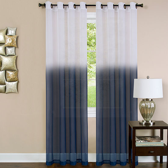Essence Grommet-Top Single Sheer Curtain Panel