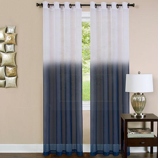 Essence Sheer Grommet-Top Single Curtain Panel