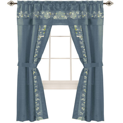 Fairfield 5-pc. Rod-Pocket Curtain Set