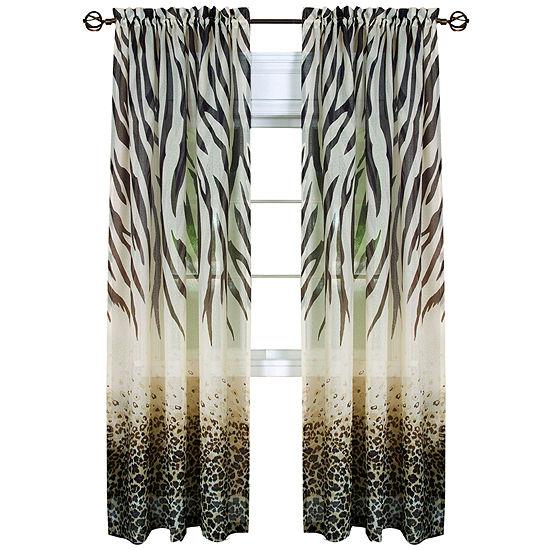 Kenya Rod-Pocket Single Sheer Curtain Panel