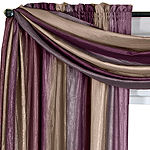 Ombre Rod-Pocket Scarf Valance