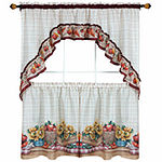 Rod-Pocket Kitchen Curtain Set
