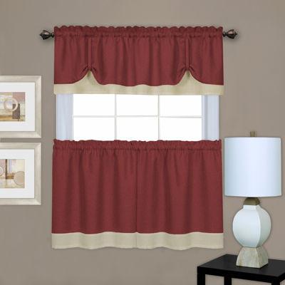 Darcy Rod-Pocket Kitchen Curtain Set