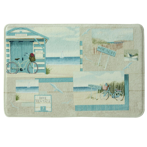 Bacova Beach Cruiser Memory Foam Bath Rug