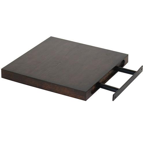 "Solid Wood 10"" Floating Wall Shelf"