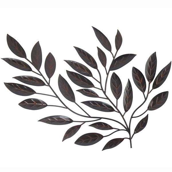 Genial Metal Leaves Wall Decor