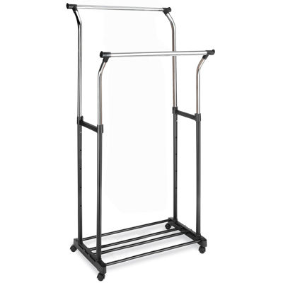 Whitmor Double Adjustable Garment Rack