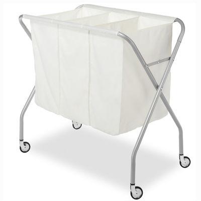Whitmor Epoxy Chrome Laundry Sorter