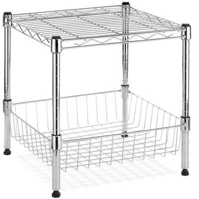 Whitmor Supreme Stack Shelf with Basket