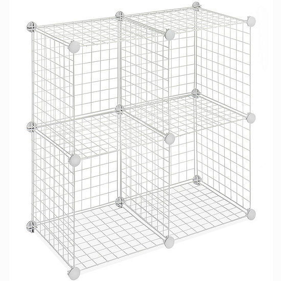 Whitmor Wire Set of 4 Storage Cubes