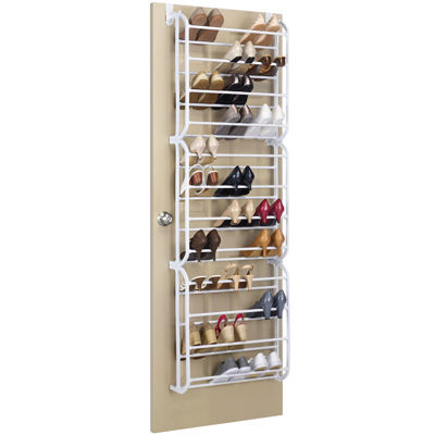 Whitmor Over-the-Door 36-Pair Shoe Rack