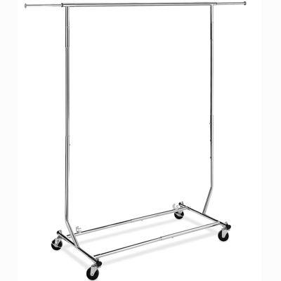 Whitmor Folding Commercial Garment Rolling Rack