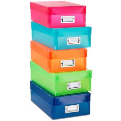 Whitmor Plastic Organizer Boxes