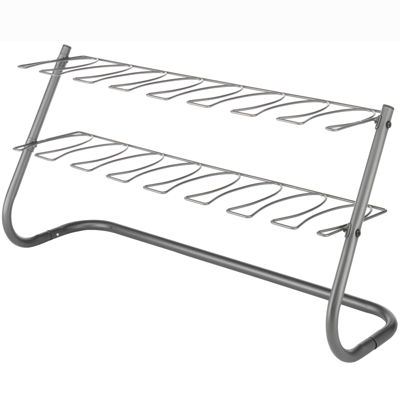 Whitmor 4-Pair Gunmetal Boot Stand