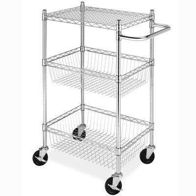 Whitmor Commercial 3-Tier Basket Cart