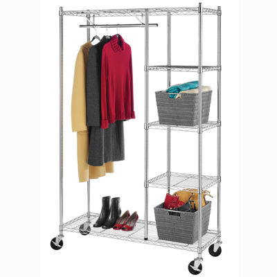 Whitmor Rolling Garment Shelf Rack