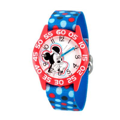 Disney Mickey Mouse Boys Blue Strap Watch-Wds000112