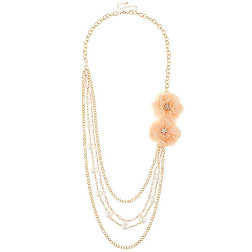 Decree® Rose Multi-Layer Necklace