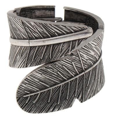 Decree® Leaf Hinged Cuffed Bracelet