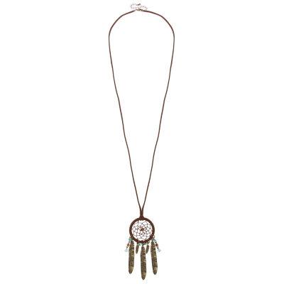 Decree® Multicolor Bead Dream Catcher Gold-Tone Necklace