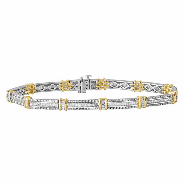 2 CT. T.W. Diamond 14K Two-Tone Gold Bracelet
