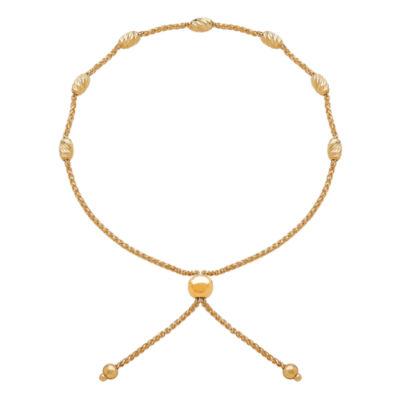 14K Gold Bolo Bracelet