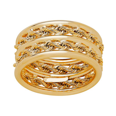 Womens 10mm 14K Gold Band