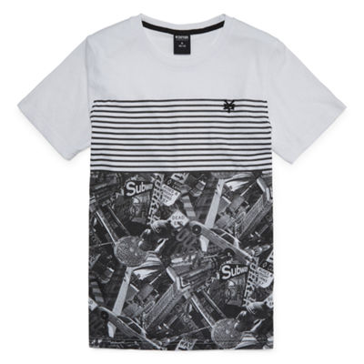 Zoo York Boys Crew Neck Short Sleeve Graphic T-Shirt-Big Kid