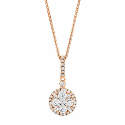 LIMITED QUANTITIES! Le Vian Grand Sample Sale™ Pendant featuring Vanilla Diamonds® set in 14K Strawberry Gold®