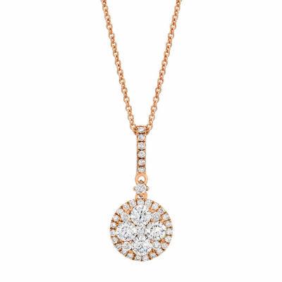 LIMITED QUANTITIES Grand Sample Sale™ by Le Vian® 5/8 CT. T.W. Vanilla Diamonds® 14K Strawberry Gold® Pendant Necklace