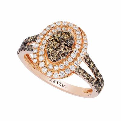 Grand Sample Sale™ by Le Vian® Chocolatier® Chocolate & Vanilla Diamonds™ Ring in 14k Strawberry Gold®