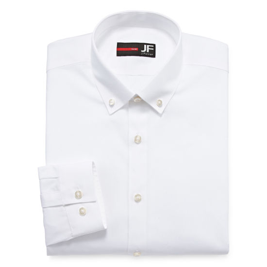 JF J.Ferrar Long Sleeve Woven Dress Shirt - Slim