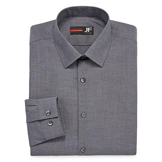 JF J.Ferrar - Slim Easy-Care Stretch Mens Long Sleeve Stretch Dress Shirt