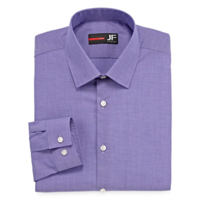JF J.Ferrar Easy-Care Stretch Mens Long Sleeve Stretch Dress Shirt - Slim