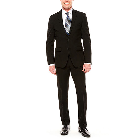 Men's Van Heusen Flex Black Slim-Fit Suit Separates