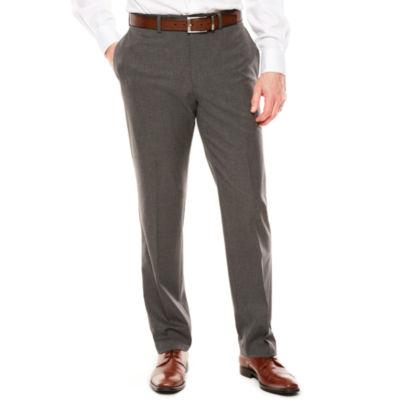 Men's Van Heusen Flex Stretch Flat-Front Hemmed-Leg Slim-Fit Suit Pants