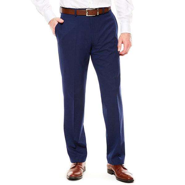 Men's Van Heusen Stretch Flex Slim-Fit Flat-Front Hemmed-Leg Suit Pants