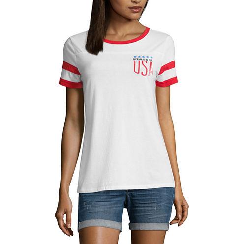 """Arizona """"Mermaid in the USA"""" Graphic T-Shirt- Juniors"""