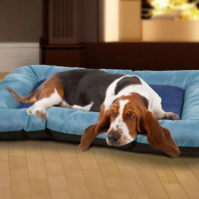 """PAW Large Plush Cozy Pet Crate Pet Bed - 38"""" x 24"""" x 3.5"""""""