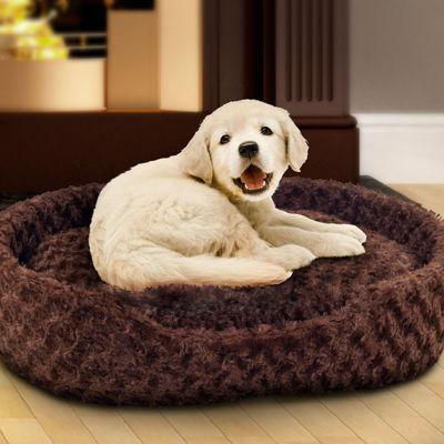 PAW Cuddle Round Plush Pet Bed